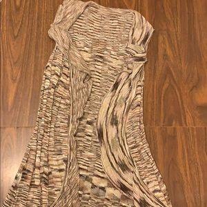 Flowy brown vest